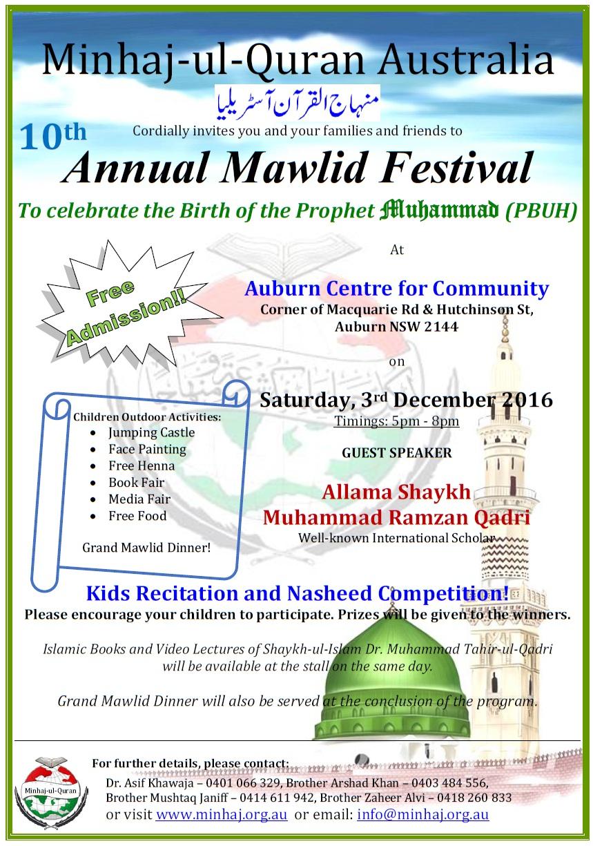 minhaj-ul-quran-australia-arranging-10th-annual-mawlid-festival