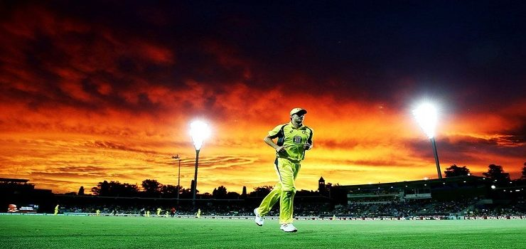 Cricket fans treated to fantastic Canberra sunset